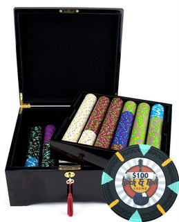 750Ct Claysmith Gaming 'Rock & Roll' Chip Set in Mahogany