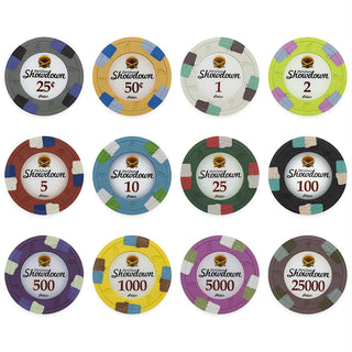 Showdown 13.5 Gram Poker Chips Sample Pack - 12 Chips