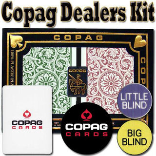 Copag Dealer Kit - 1546 Green-Burgundy Poker Jumbo