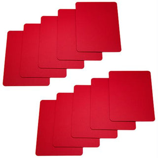 Set of 10 Red Plastic Poker Size Cut Cards