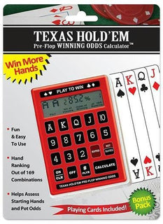 Texas Hold'Em Pre-Flop Odds Calculator w-Deck of Cards