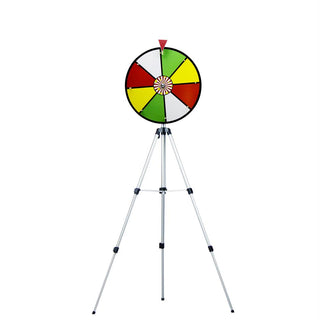 "16"" Color Dry Wheel Prize Wheel w- Floor Stand"