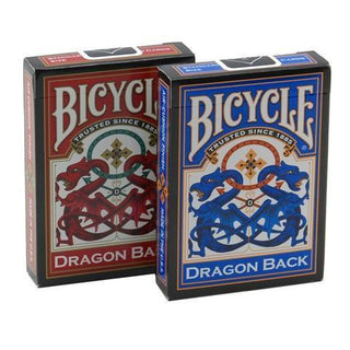 Bicycle Dragon Back, 6 Decks Red-Blue