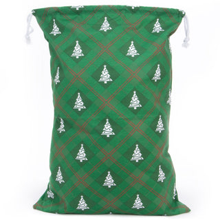 Reusable Christmas Gift Bag - Christmas Tree Giftwrap Design