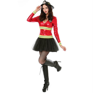 Women's Hot Stuff Firefighter Halloween Costume, Large