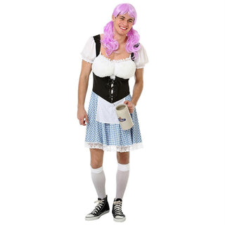 Men's Busty Bavarian Halloween Costume, Medium