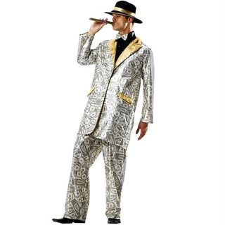 Men's Money Suit Halloween Costume, Medium