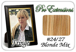 #24-27 Blonde Mix Pro  Fringe Clip In Bangs