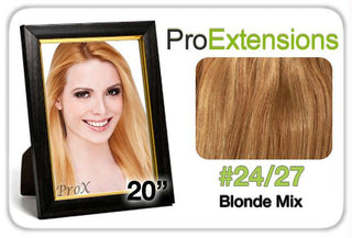 "Pro Fusion 20"", #24-27 Light Blonde w-Dark Blonde Highlights"