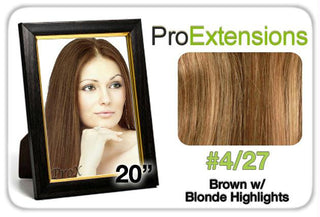 "Pro Fusion 20"", #4-27 Brown w-Blonde Highlights"