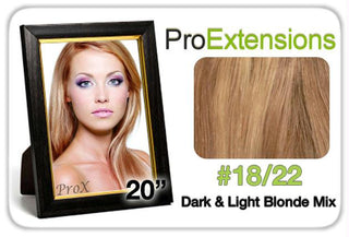 "Pro Lace 20"", #18-22 Dark Blonde w-Light Blonde Highlights"