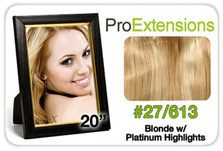 "Pro Lace 20"", #27-613 Blonde w-Platinum Highlights"