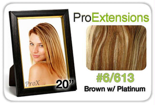 "Pro Lace 20"", #6-613 Chestnut Brown w-Platinum Highlights"