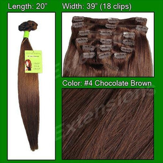 #4 Chocolate Brown - 20 inch Remi