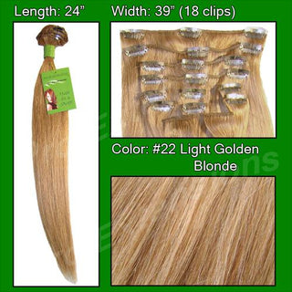 #22 Golden Blonde - 24 inch Remy