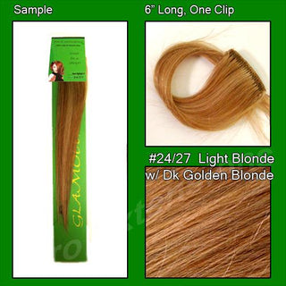 #24-27 Light Blonde w- Golden Blonde Highlights Sample