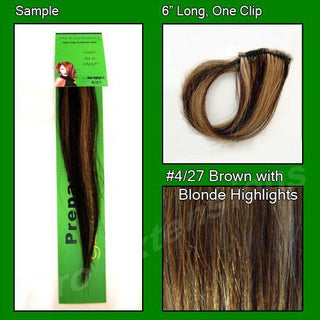 #4-27 Chocolate Brown w- Blonde Highlights Sample