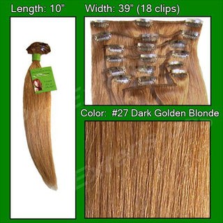 #27 Dark Golden Blonde - 10 inch