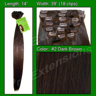 #2 Dark Brown - 14 inch