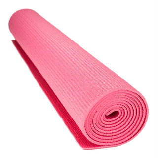 1-8-inch (3mm) Compact Yoga Mat with No-Slip Texture - Pink