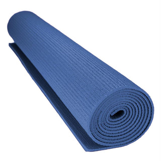1-8-inch (3mm) Compact Yoga Mat with No-Slip Texture - Blue