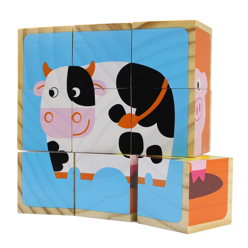 Barnyard Animal Block Puzzles
