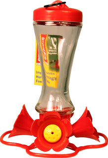 Classic Brands - Humming - Stokes Impatiens Glass Hummingbird Feeder (Case of 4 )