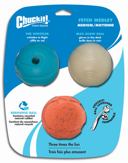 Canine Hardware Inc - Chuckit! Fetch Medley Balls Dog Toys