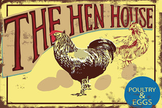 My Favorite Chicken - The Hen House Metal Sign
