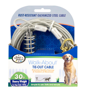 Four Paws - Container - Four Paws Dog Tie Out Cable- Heavyweight