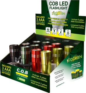 Gogreen Power Inc. - Cob Led Flashlight Display