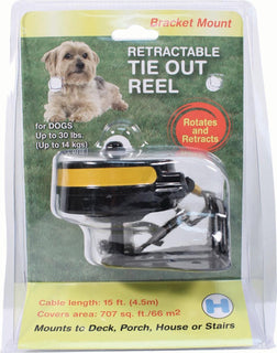 Lixit Corporation - Reflective Retractable Tie Out Reel With Bracket