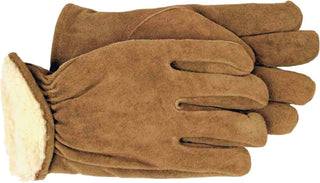 Boss Manufacturing     P - Men's Pile-insulated Split Leather Driver Glove (Case of 6 )