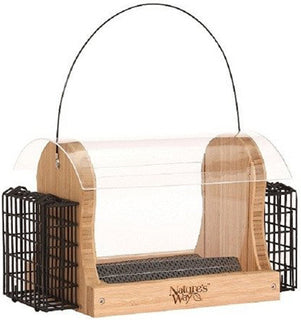 Natures Way Bird Prdts - Hopper Feeder With Suet Cages