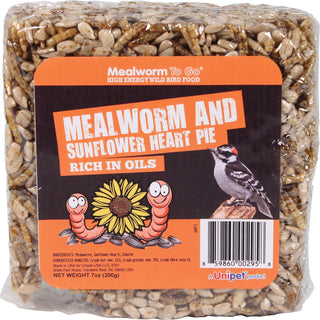 Unipet Llc - Mealworm To Go Mealworm And Sunflower Heart Pie (Case of 6 )
