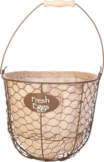 Panacea Products - Egg Gathering Basket/planter With Burlap Liner