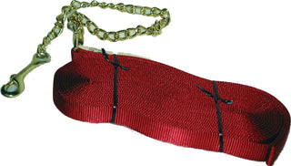 Hamilton Halter Company - Single Thick Lunge Line With Chain