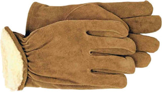 Boss Manufacturing     P - Mens Pile Insulated Split Leather Driver Glove (Case of 6 )