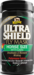 W F Younginc-insecticide-Ultrashield Fly Mask Warmblood With Ears