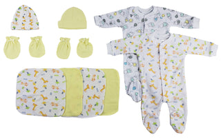 Sleep-n-plays, Caps, Mittens And Washcloths - 9 Pc Set