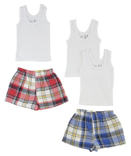 Infant Tank Tops And Boxer Shorts