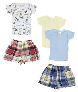 Infant Girls T-shirts And Boxer Shorts