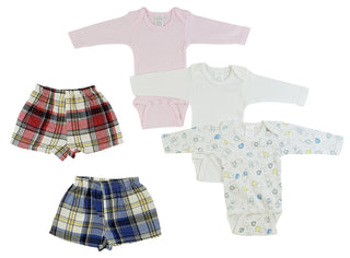 Infant Girls Long Sleeve Onezies And Boxer Shorts