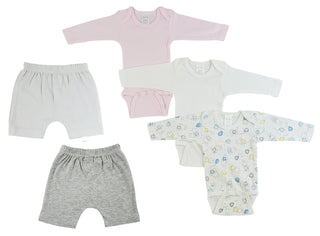 Infant Girls Long Sleeve Onezies And Pants