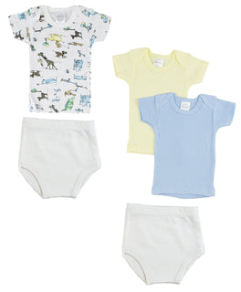 Infant Girls T-shirts And Training Pants