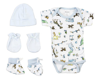 Newborn Baby Boys 4 Pc  Baby Shower Gift Set