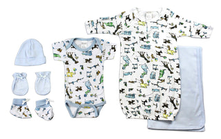 Newborn Baby Boys 6 Pc  Baby Shower Gift Set