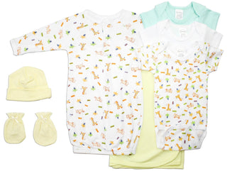 Neutral Newborn Baby 7 Pc  Baby Shower Gift Set