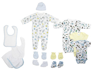 Neutral Newborn Baby 13 Pc  Baby Shower Gift Set