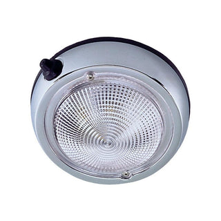 "Perko Surface Mount Dome Light - 3 3-4"" O.D. (3"" Lens) - Chrome Plated"